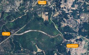 Navasfrias - Tras el comienzo de las obras del tramo de carretera que la Diputación pretende construir entre Navasfrías y Foios Ecologistas en Acción de Salamanca piden el cese de las obras