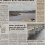 Ciudad rodrigo: Se paralizan las obras en irueña, mientras crece la preocupación por que el puente no resista la presión.