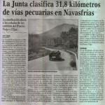 La Junta clasifica 31.8 Km de vias pecuarias en Navasfrias