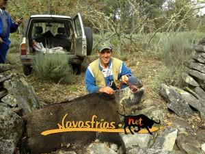 Navasfrias - GRAN JABALÍ ABATIDO EN NAVASFRIAS