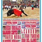Carnival poster presentation bull bullfighting festivals for the carnival of Ciudad Rodrigo