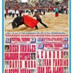 Carnaval del toro cartel presentación de los festivales taurinos para el carnaval de Ciudad Rodrigo