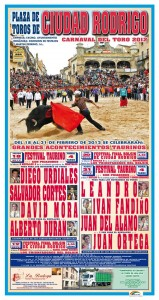 toros ciudad rodrigo para el carnaval