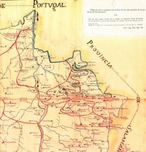mapa antiguo, navasfrías extremeña
