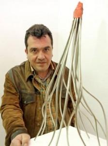 Navasfrias - César David, Escultor y vecino de Navasfrías exhibe en Croma 'Paisajes de Montaña y Agua'
