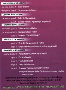 Navasfrias - NAVASFRIAS PROGRAMA DE ACTIVIDADES 2012