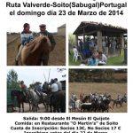 Ruta a caballo a us Soito el día 23 de marzo