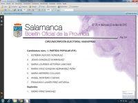 Navasfrias - Listas candidatos Elecciones municipales 2015