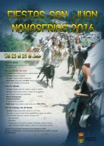 Cartel Fiestas San Juan 2016. Navasfrias