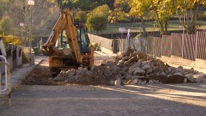 Navasfrias - Navasfrias continúan obras en calles