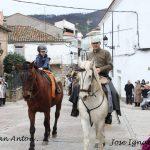 Procesióna caballo, en Valverde del Fresno San Antón