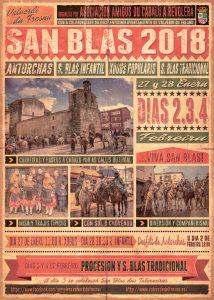 Cartel San blas 2018, Fiestas de San Blas en Valverde del Fresno