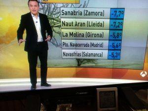 Navasfrías brand new septima minimum temperature of Spain